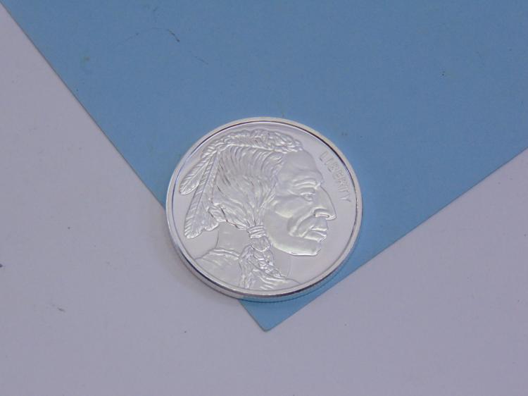 One Troy Oz 999 Fine Silver Buffalo Coin Ingot