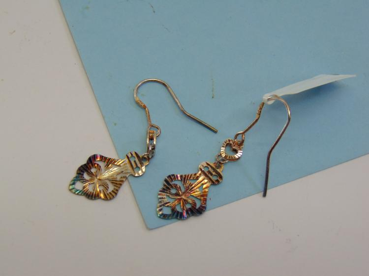 Burnished Sterling Silver Dangle Earrings