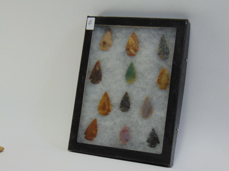 Native American Knapped Arrowhead Collection