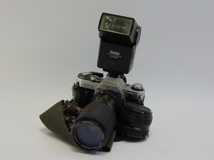 Cannon AE-1 35mm Camera W/ Accessories