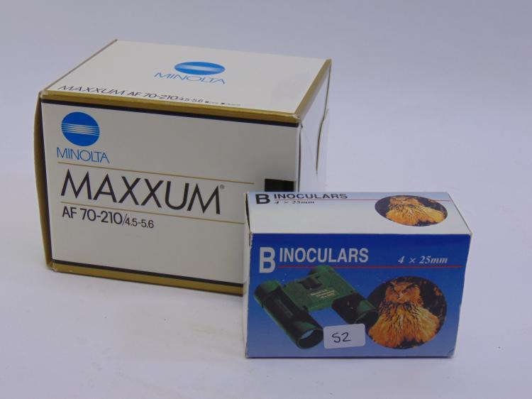 Minolta AF-70-210 Zoom Lens & Binocular Lot