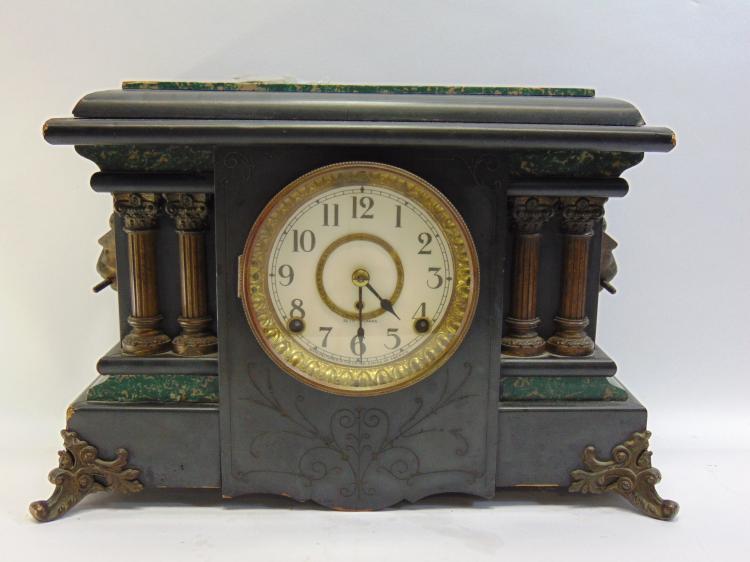 Vintage Seth Thomas Key Wind Mantle Clock