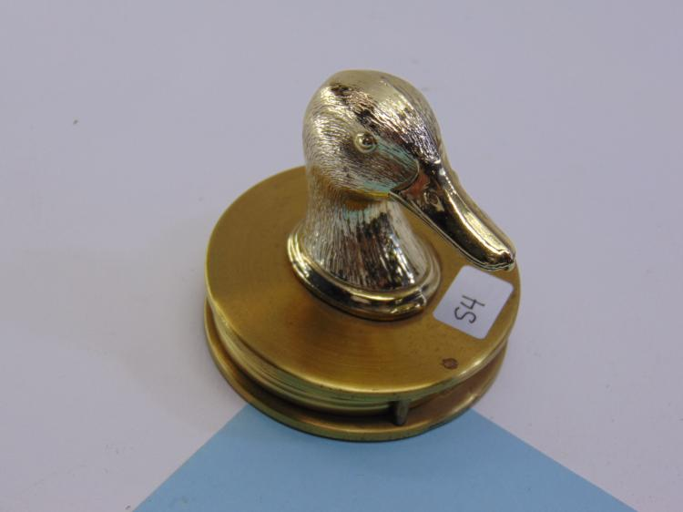 Vintage Brass Duck Desk Magnifying Glass