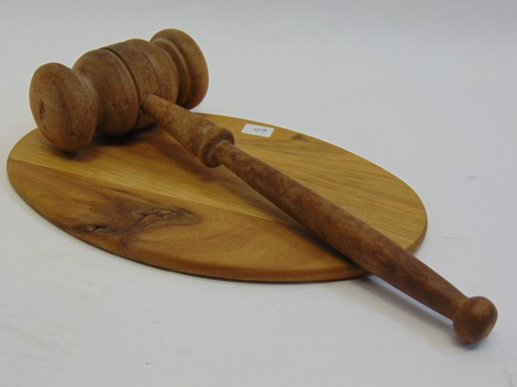 Vintage Wood Gavel