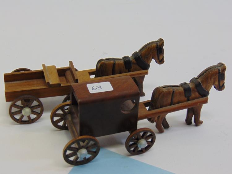 Vintage Handcrafted Wood Model Quaker Wagon Lot