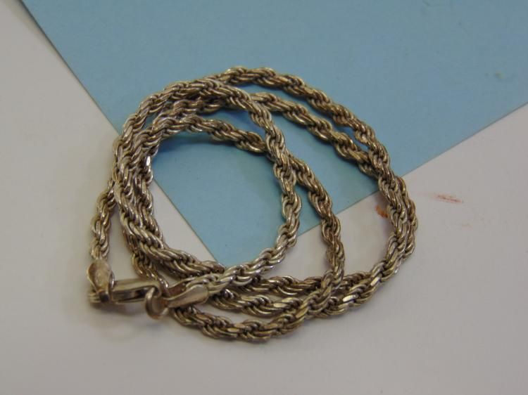 13g Sterling Silver Rope Style Chain Necklace