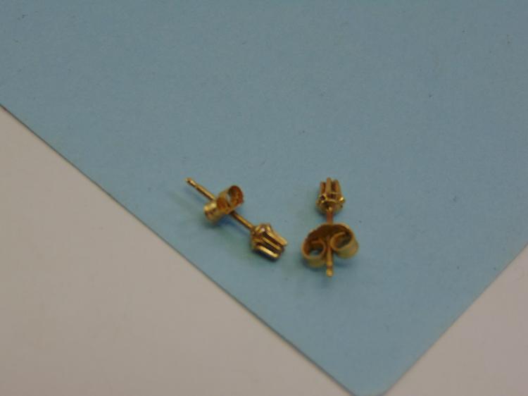 14K Gold Diamond Post Earrings