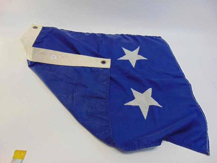 Double White Star Military Service Banner Flag