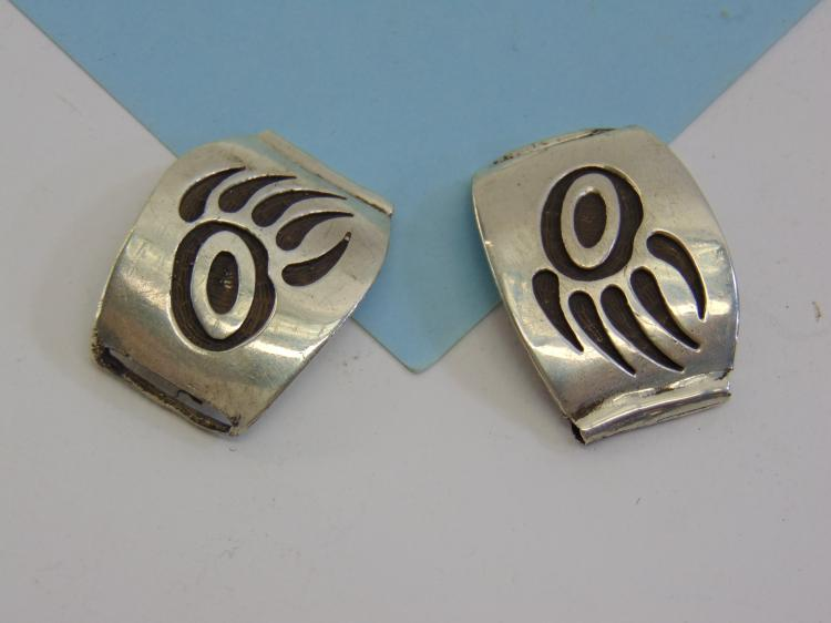 22g Sterling Silver Hopi Bear Paw Watch Tips