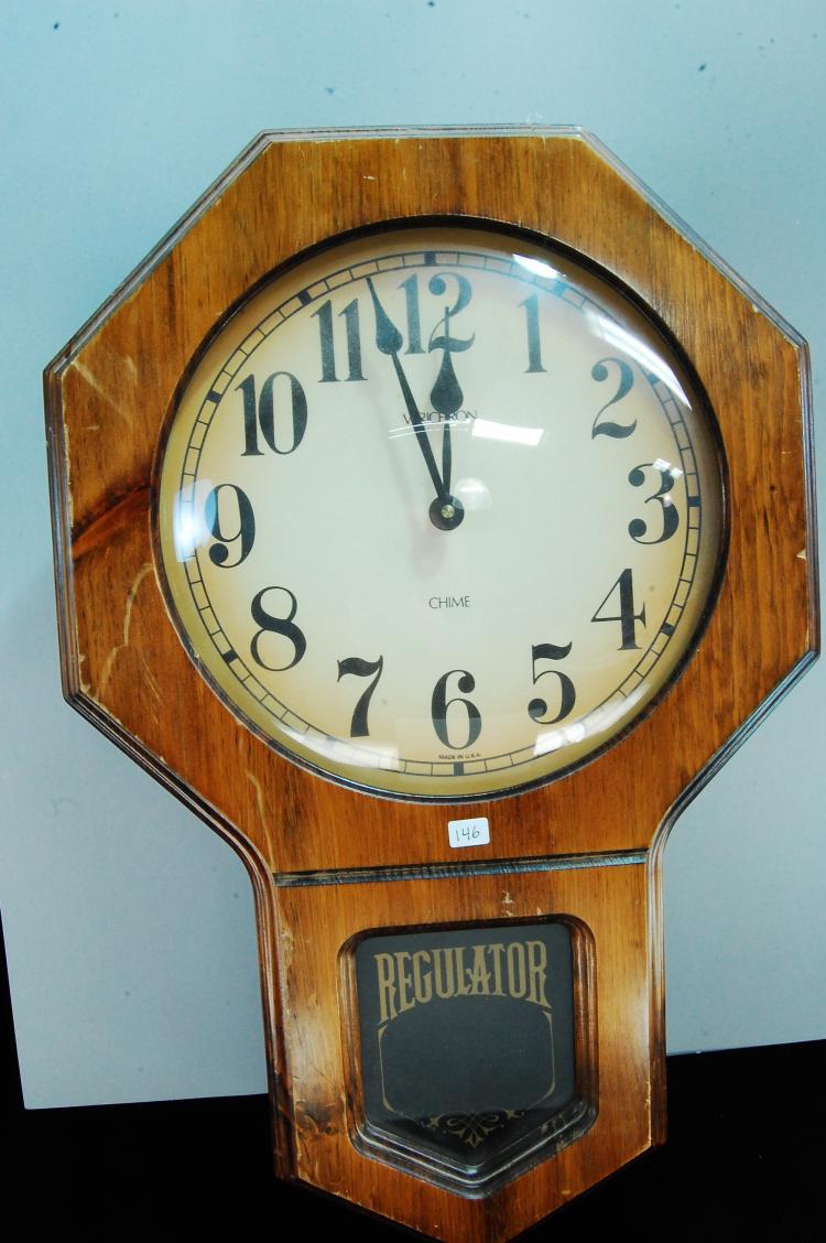 Vintage Verichron Chime Regulator Wall Clock