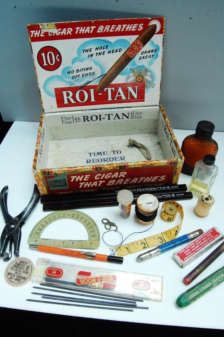 Vintage Cigar Box Knick Knack Collectibles Lot