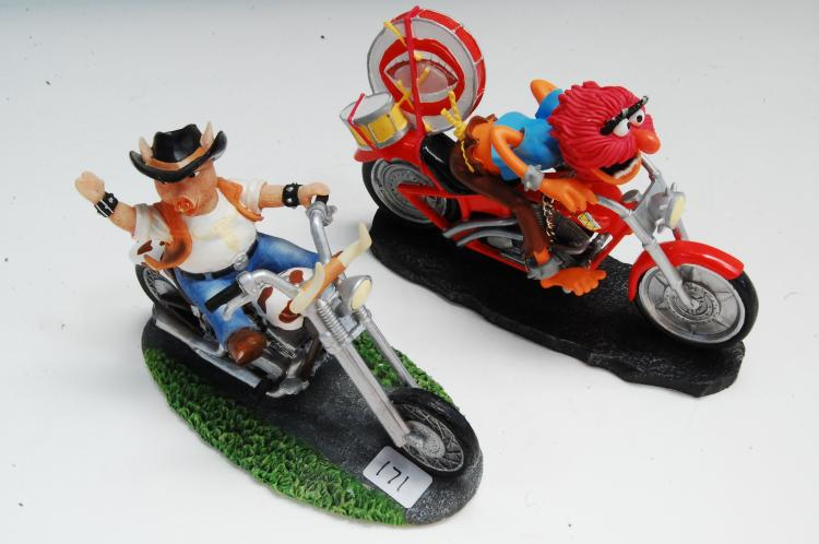 Collectible Motorcycle Figurine Lot Of 2