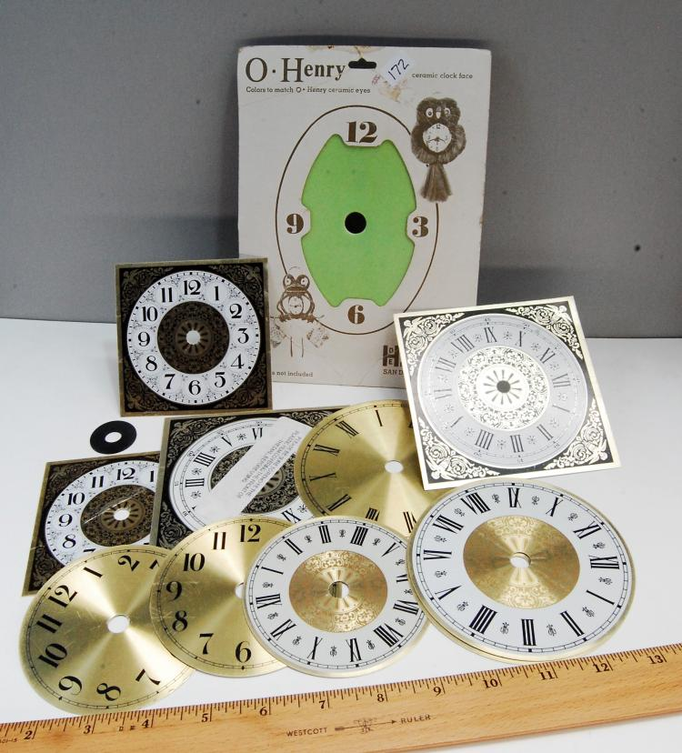 Assorted Clock Face Lot Of 11