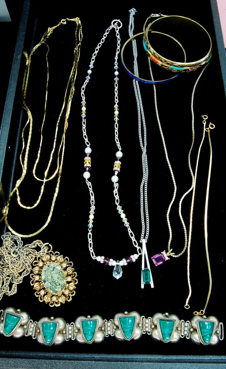 Assorted Costume Jewelry Necklace Lot Of 9