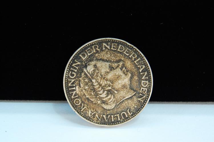 1960 2 1/2 Gulden Netherland Silver Coin
