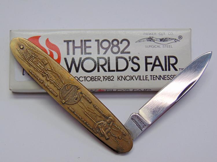 1982 Parker Cutlery Worlds Fair Pocket Knife