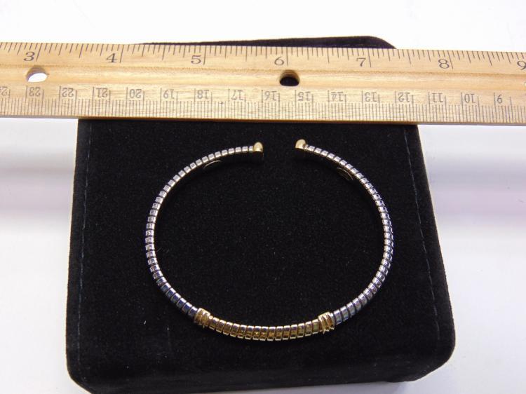 Stainless Steel & 18K Gold Milor Cuff Bracelet