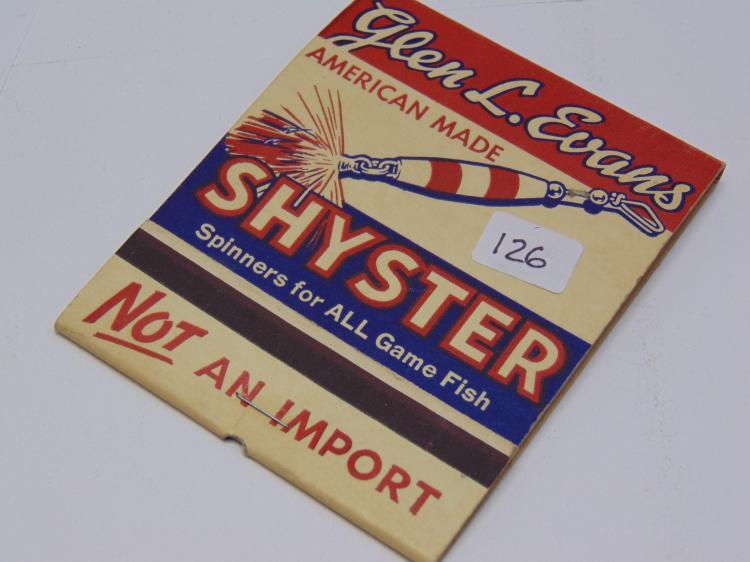 Glen L Evans Shyster Spinner Lrg Match Book