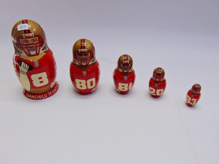 Russian Made SF 49ers Football Nesting Dolls
