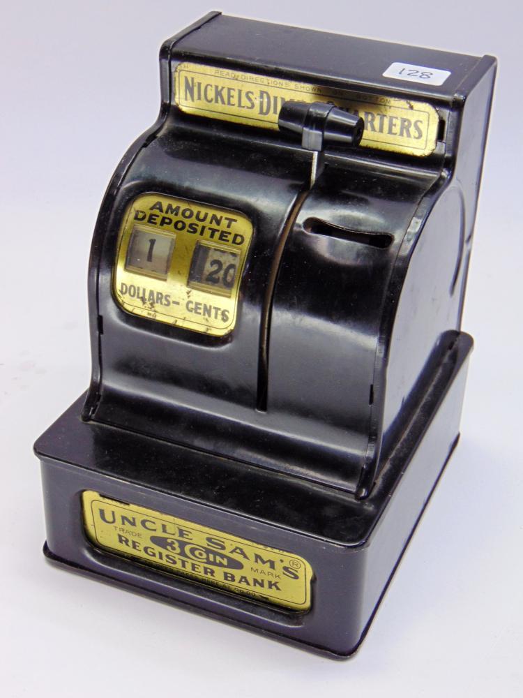 Vintage Uncle Sams 3 Coin Cash Register Bank