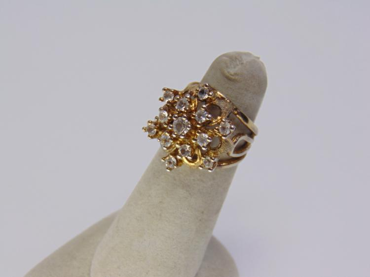 6.6g Sterling Silver CZ Ladies Ring Size 6