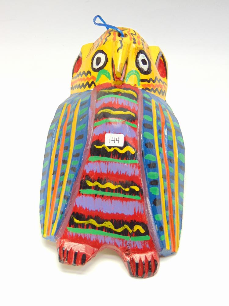 Handcarved & Painted Tribal Bird Wall Hanging