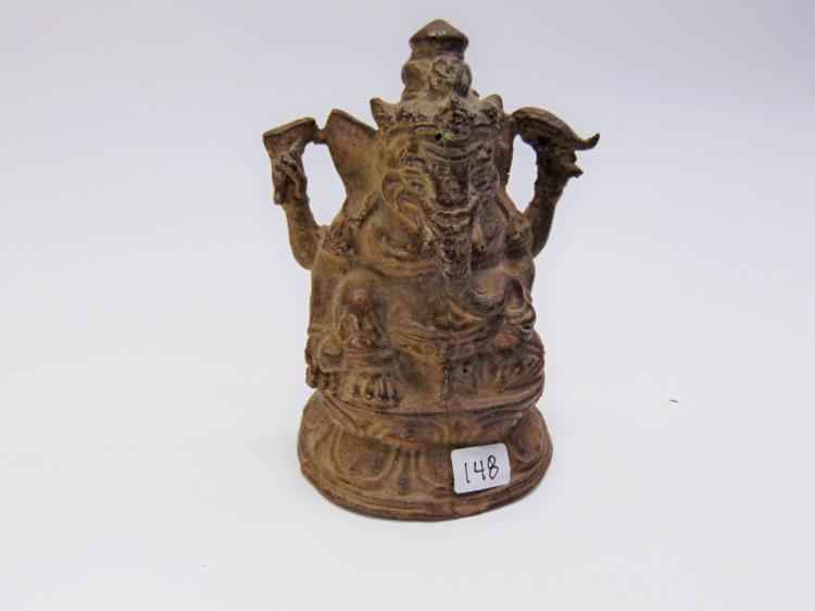 Vintage Indonesian Made Bronze Cast Ganesh Deity