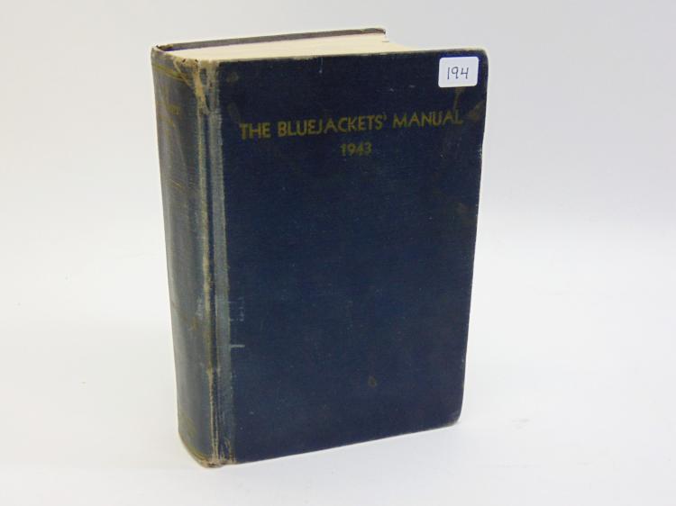 1943 The Bluejackets Manual US Navy Hardback Book