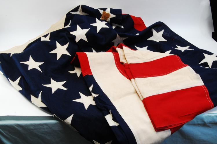 Vintage 48 Star United States 9.5'X5' Burial Flag