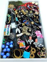 Mixed Modern And Vintage Costume Jewelry Lot Including Earrings Necklaces Watch & More