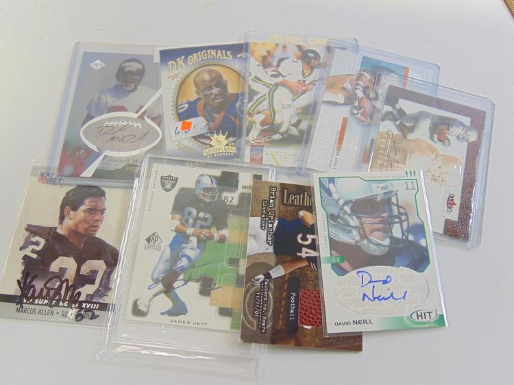 Lot 5: Lot of Rare and Signed Insert & Game Used Football Cards