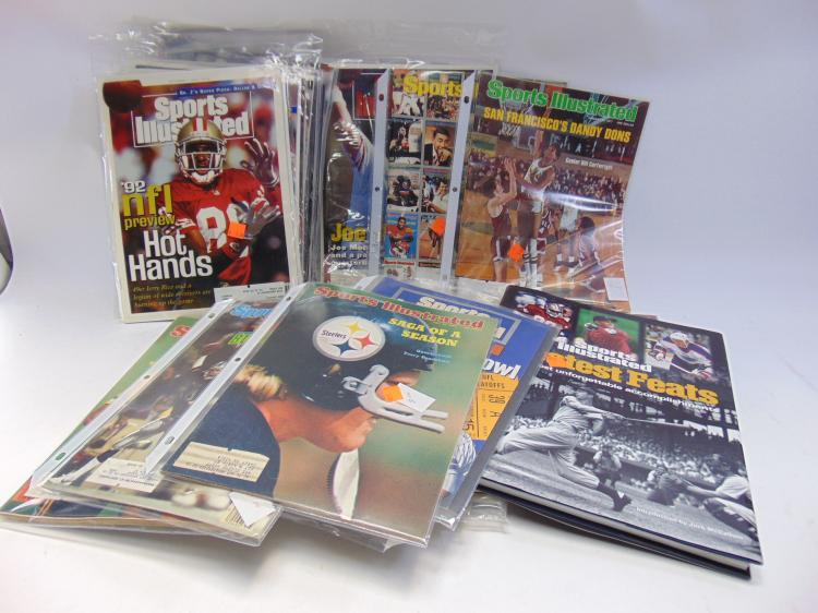 Lot 7: Large Lot of Sports Illustrated Magazines and Book