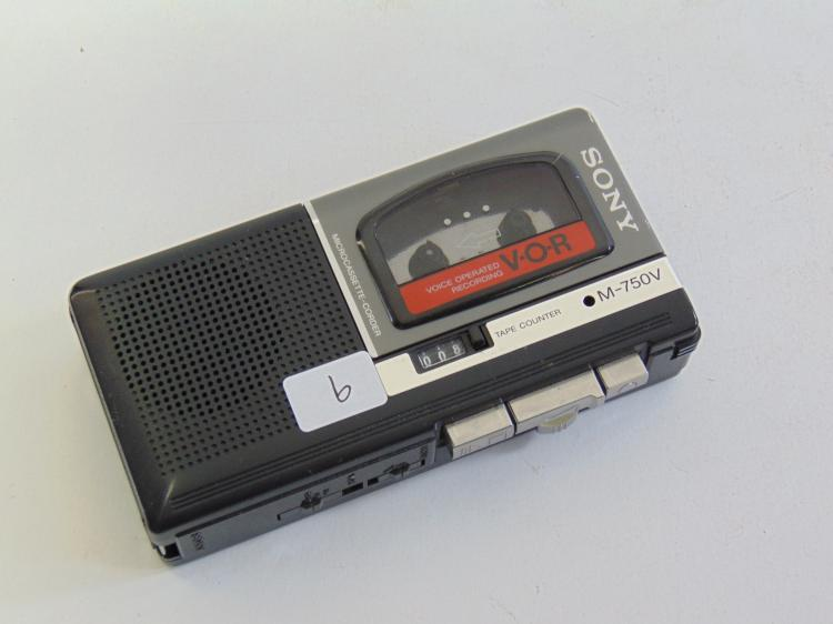 Lot 9: Sony M-750V Microcassette Recorder