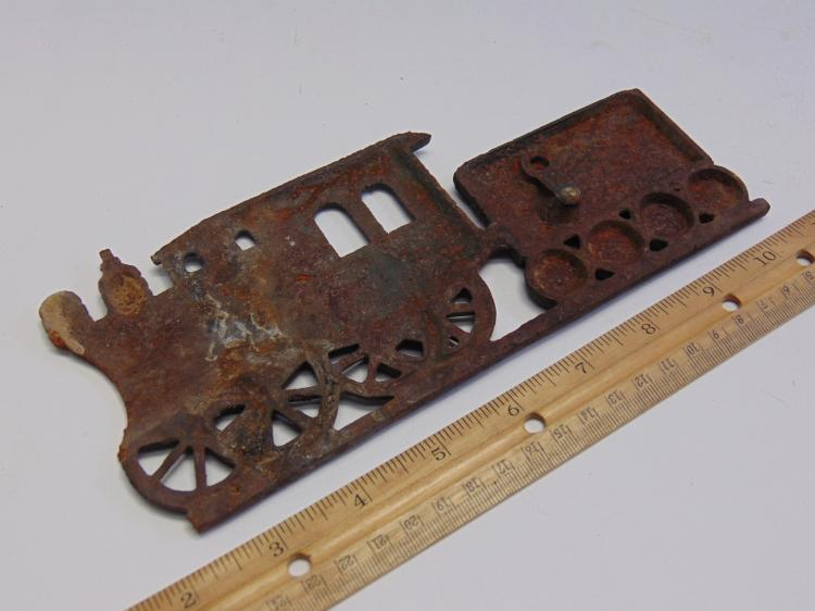 Lot 17: Cast Metal Locomotive and Tender Decorative Wall Hanger