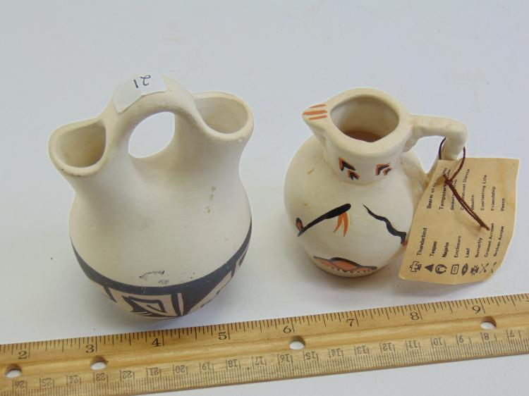 Lot 21: Lot of Two Small Native American Vases
