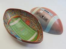Lot 24: Tin Football Team Stadium Bank