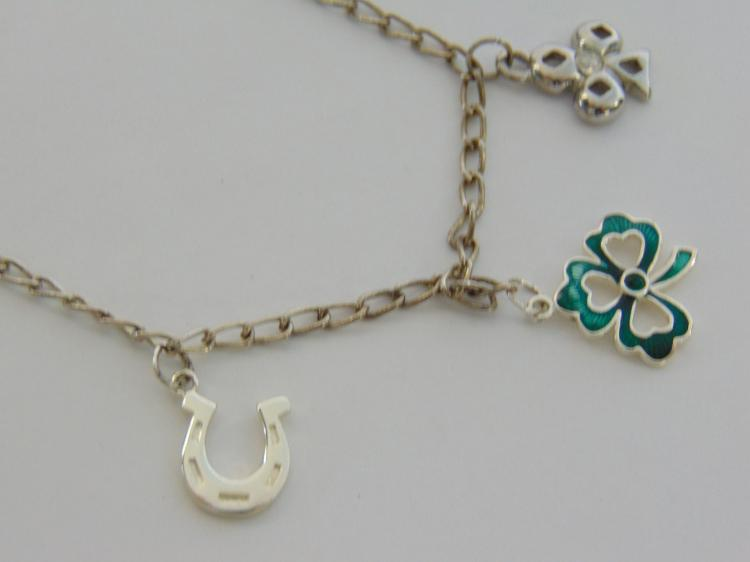 Lot 38: Sterling Silver Lucky Charm Necklace