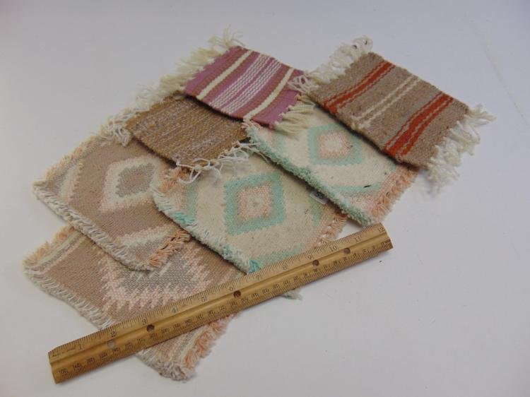 Lot 55: Lot of 7 Miniature Native American Rug Samples