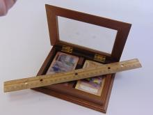 Lot 56: 1907 Peugeot Playing Cards in an Etched Glass and Wood Card Box
