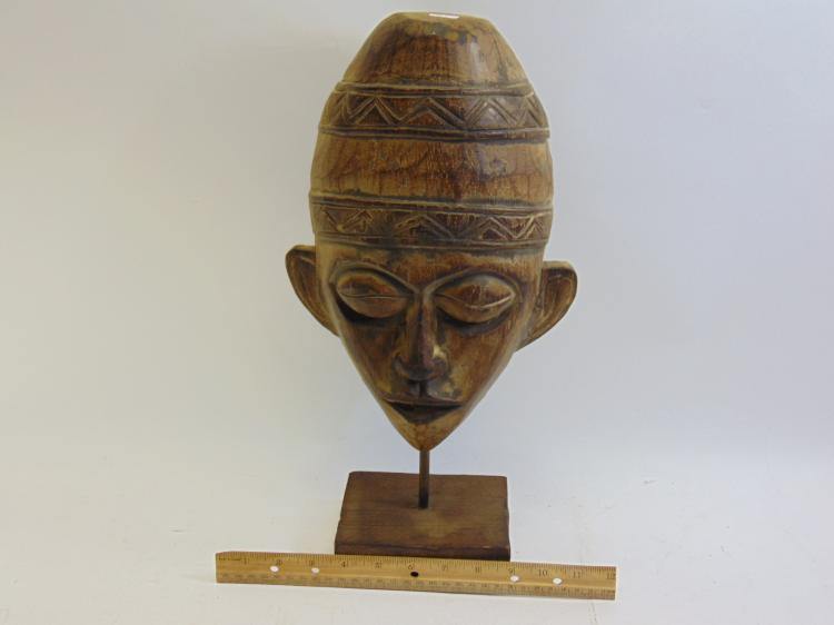 Lot 91: Carved Wood African Tribal Mask