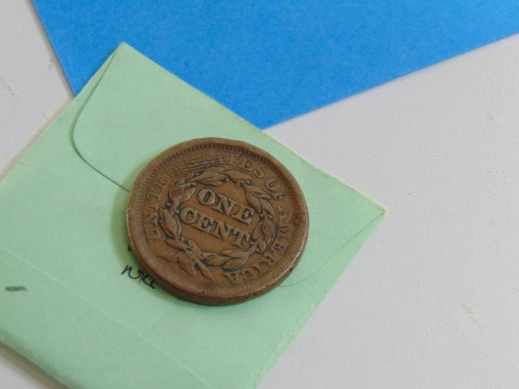 Lot 110: 1856 Braided Hair Large Cent