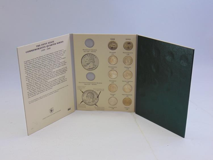 Lot 125: Littleton Fifty State Quarter Album with 6 Complete Years