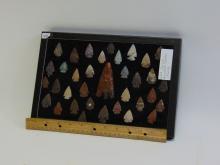 Lot 128: North Carolina 35 Piece Arrowhead Collection in Display Case