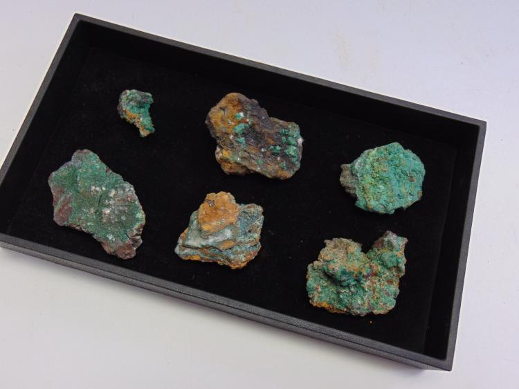 Lot 129: Lot of 6 Nice Arizona Malachite Specimens