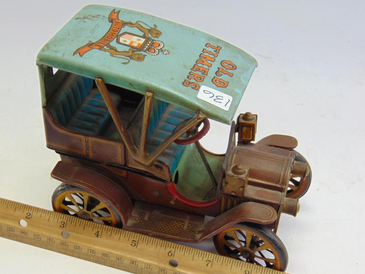 Lot 136: Japanese Tin Litho Old Timers Electric Automobile