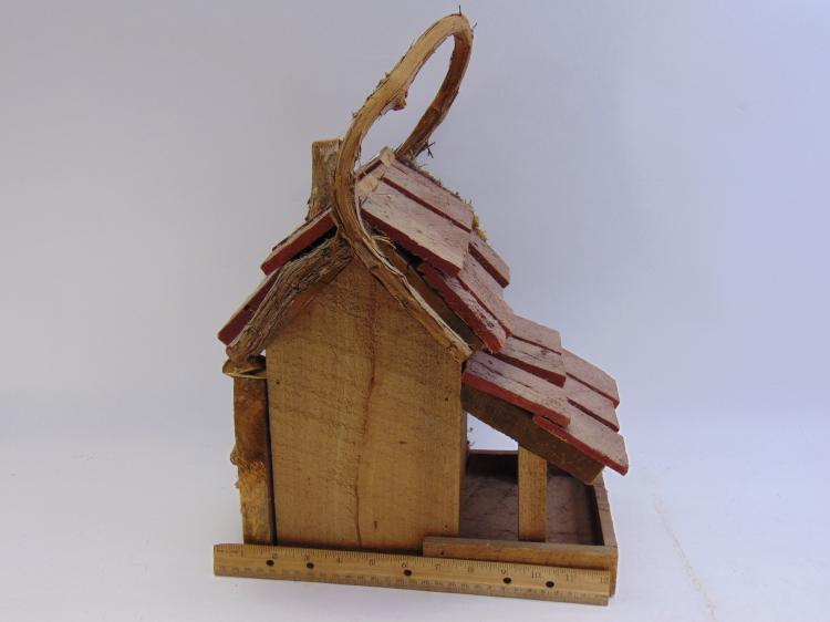 Lot 146: Rustic Hand Made Deluxe Wood Bird House