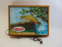 Lot 155: Vintage Genesee Beer & Ale Double Sided Lighted Advertising Sign
