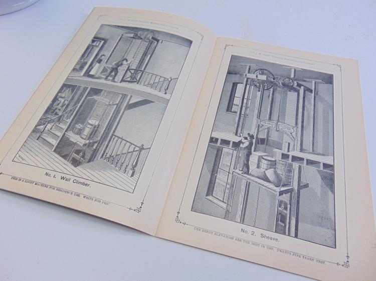 Lot 166: Antique JW Reedy Elevator Company Illustrated Catalogue