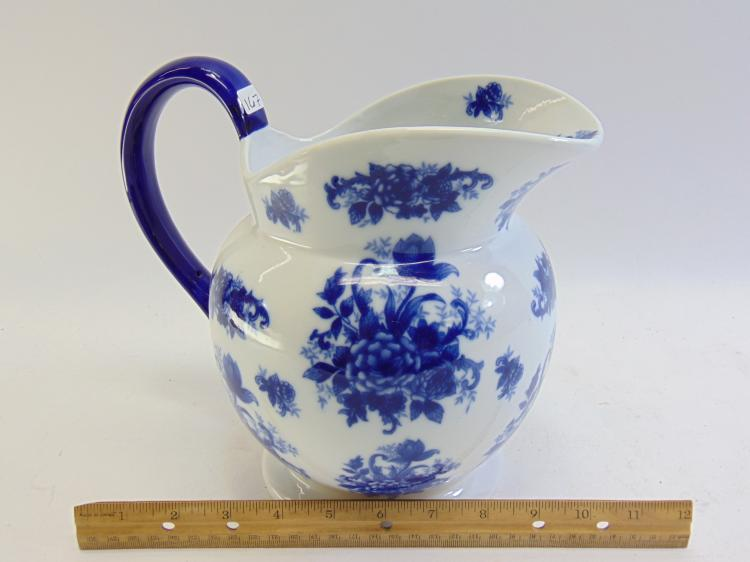 Lot 167: Vintage Flow Blue Pitcher