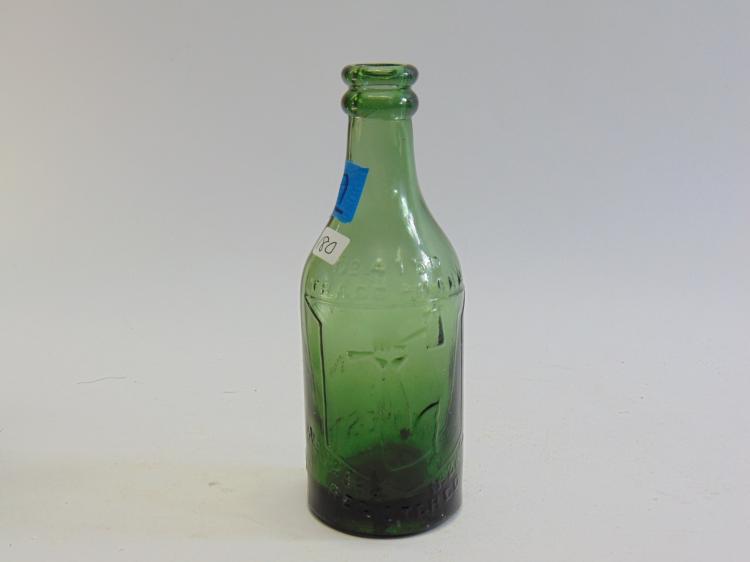 Lot 180: Antique J. Pratt Double Lip Green Glass Beer or Soda Bottle